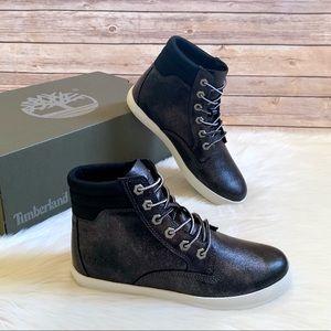 Timberland Black Metallic Dausette Sneaker Boots